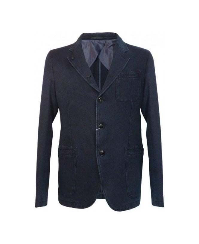 Armani Blue MC508 Denim Style Jacket