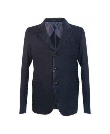 Armani Blue MC508 Denim Style Jacket
