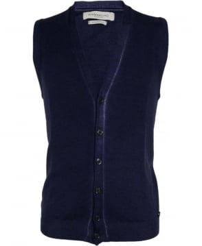 Hamaki-Ho Blue MI1590H Trim Button Vest