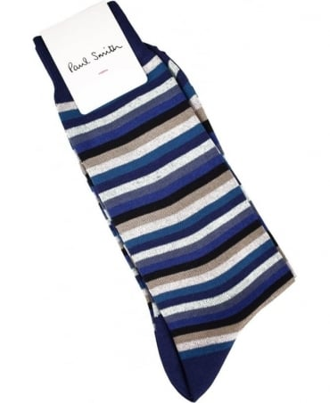 Paul Smith  Blue Multi Stripe ASXC/359A/K403 Socks