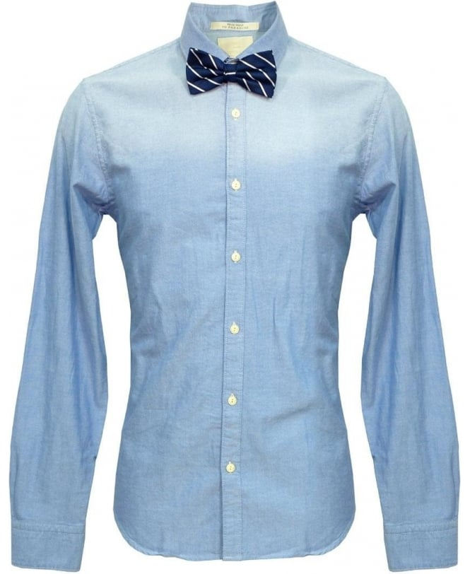 Scotch & Soda Blue & Navy Stripe Bow Tie 20002 Shirt