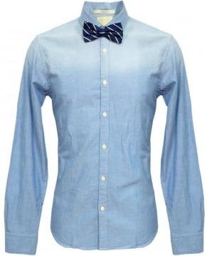 Scotch & Soda Blue & Navy Stripe Bow Tie 20002 Shirt