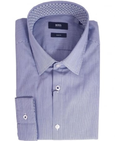 Hugo Boss Blue Nemos 2 50283750 Blue Stripe Shirt