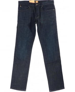 Hugo Boss Blue Orange 24 Barcelona Rebel Regular Fit Jeans