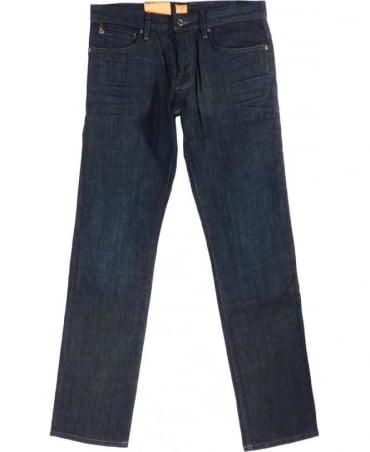 Hugo Boss Blue Orange 24 Barcelona Rebel Regular Fit Jeans