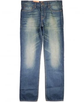 Hugo Boss Blue Orange 25 Indie Refular Fit Jeans