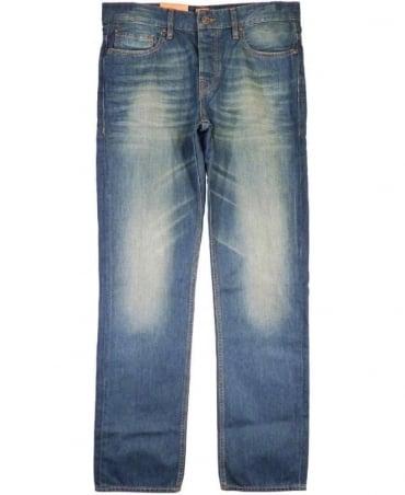 Hugo Boss Blue Orange 25 Indie Refular Fit Jeans
