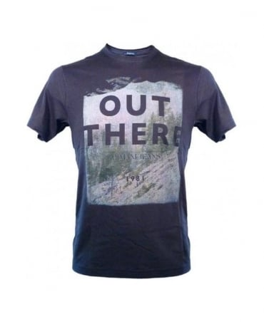 Armani Blue 'Out There' Design Regular Fit T-Shirt U6H25 5C