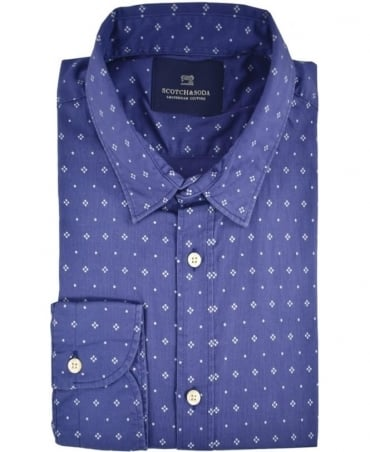 Scotch & Soda Blue Pattern 101424 Shirt