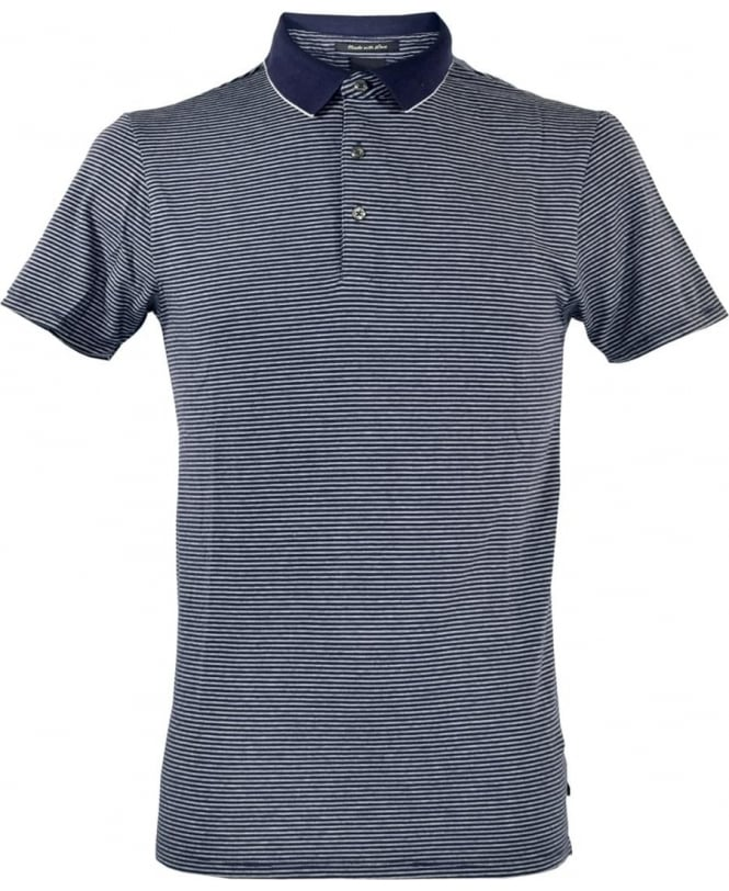 Scotch & Soda Blue Pattern 101624 Polo Shirt
