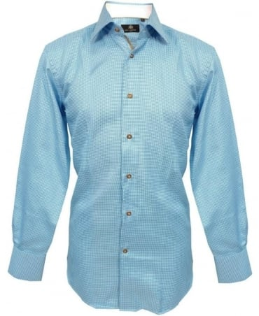 Circle of Gentlemen Blue Pattern 4391 Ridley Shirt