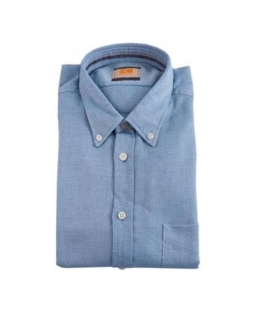 Hugo Boss Blue Pattern Equatore Shirt
