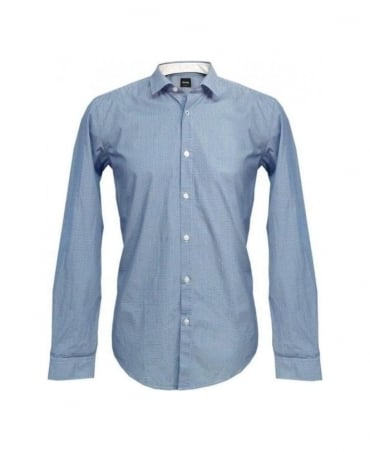 Hugo Boss Blue Pattern Nemos_2 50254085 Shirt