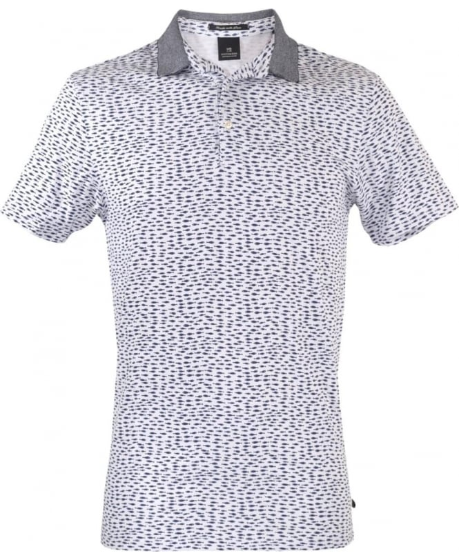 Scotch & Soda Blue Patterned 101624 Polo