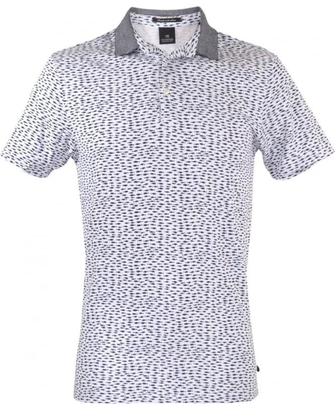 Scotch & Soda Blue Patterned 101624 Polo Shirt