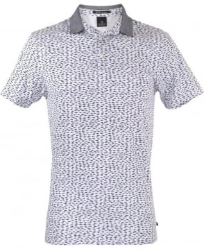 Scotch & Soda Blue Patterned 101624 Polo Shirt