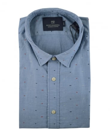 Scotch & Soda Blue Patterned 139555 Shirt