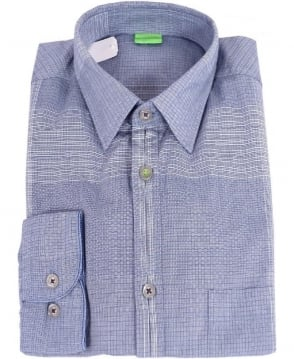 Hugo Boss Blue Patterned Baciu Shirt