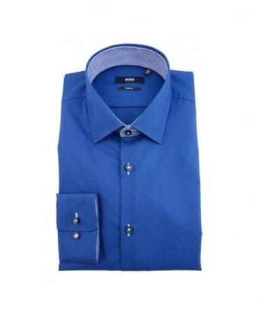 Hugo Boss Blue Patterned Collar Juri shirt