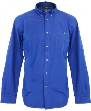Paul Smith  Blue Perforated Collar Shirt JKFJ/671M/723