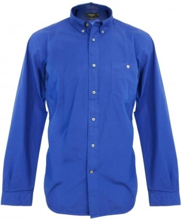 Paul Smith - Jeans Blue Perforated Collar Shirt JKFJ/671M/723