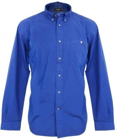 Paul Smith - Jeans Blue Perforated Collar Shirt JKFJ/671M/723