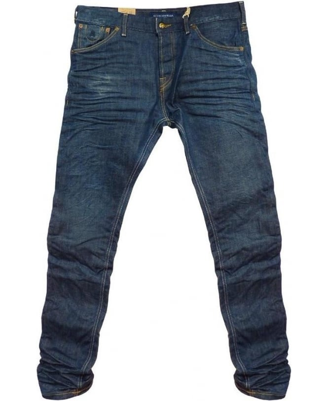 Scotch & Soda Blue Phaidon Super Slim Jeans 85013