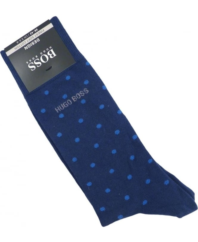 Hugo Boss Blue Polka Dot RS Design Socks