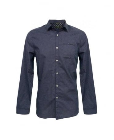 Paul Smith - Jeans Blue Polka Dot Slim Fit Shirt