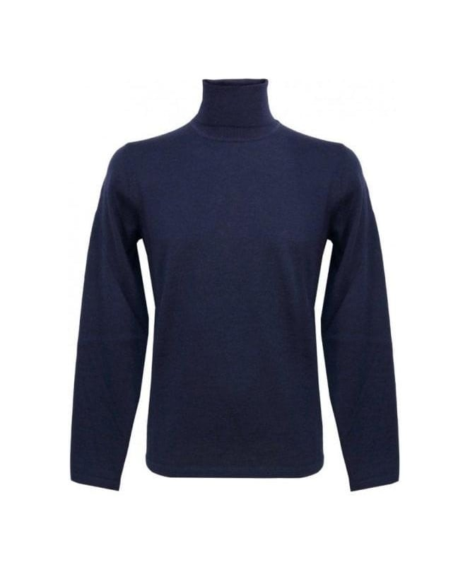 Hugo Blue Polo Neck Sirialano Knitwear