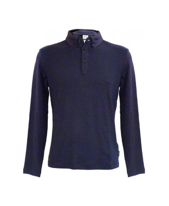 Armani Collezioni Blue Polo Regular Fit Sweatshirt