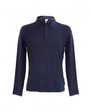 Armani Collezioni Blue Polo Regular Fit Sweatshirt