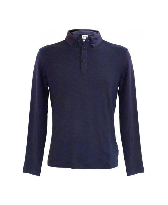 Armani Blue Polo Sweatshirt