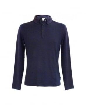 Armani Collezioni Blue Polo Sweatshirt