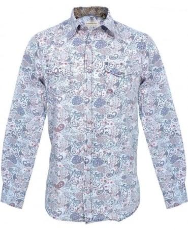 Hamaki-Ho Blue & Print CA400H Shirt