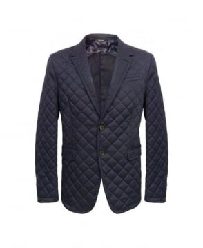 Paul Smith  Blue Quilted Byard Jacket