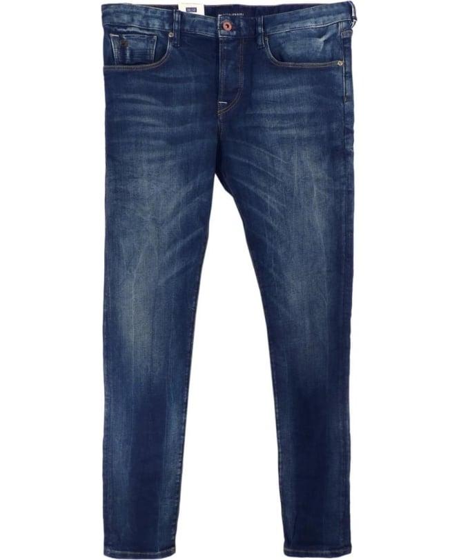 Scotch & Soda Blue Ralston Five Pocket Regular Slim Fit Jeans