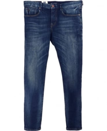 Scotch & Soda Blue Ralston Five Pocket Regular Slim Fit Jeans