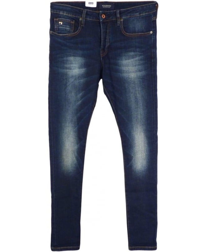Scotch & Soda Blue 'Ralston' Regular Slim Fit Jeans