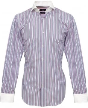 Hugo Boss Blue & Red Stripe Johan Shirt 50265378