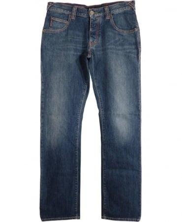 Armani Blue Regular Fit J08 Jeans