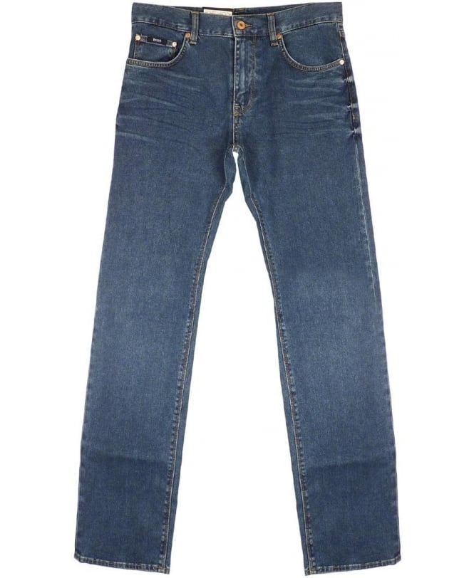 Hugo Boss Blue Regular Fit Maine Jeans