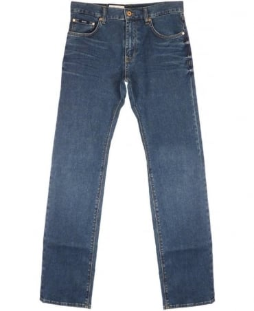 Hugo Boss Blue Regular Fit Maine Jeans