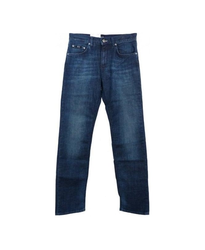 Hugo Boss Blue Regular Fit Maine1 Jeans
