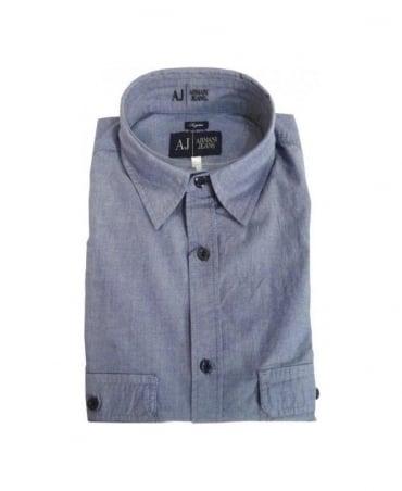 Armani Blue Regular Fit Shirt