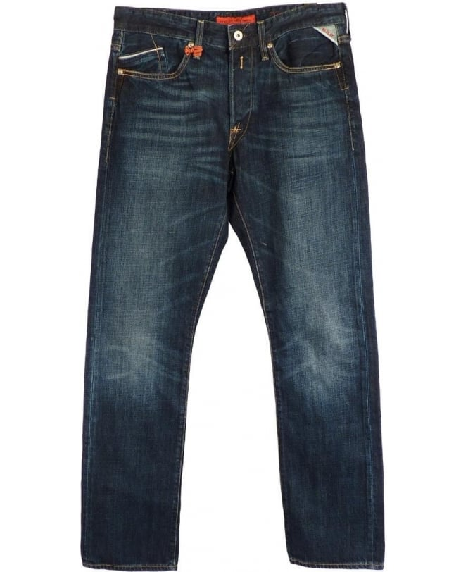 Replay Blue Regular Slim Anbass Jeans