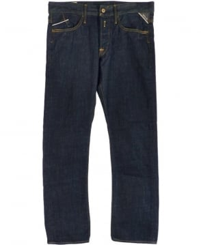 Replay Blue Regular Slim Waitom Jeans