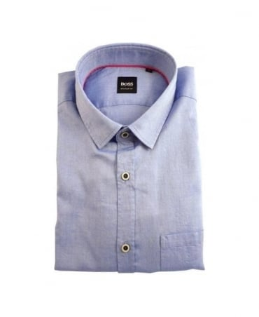 Hugo Boss Blue Rolf Regular Fit Shirt