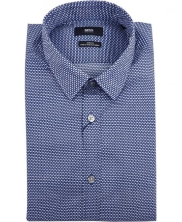 Hugo Boss Blue Ronni 50308491 All Over Print Shirt