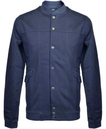 Hugo Boss Blue Round Collar Prezzo 03 Sweatshirt Jacket